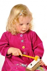 Learning rhythm and pitch in a Toddler class